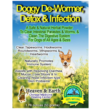 Doggy De-wormer Detox Infection Pets MAIN WEB