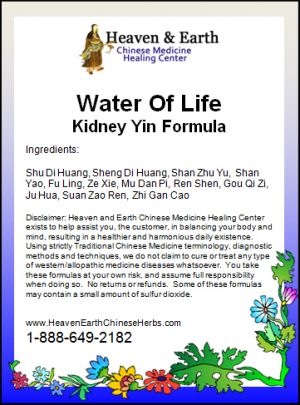 Water Of Life Kidney Yin Formula