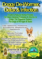 Natural Doggy De-Wormer Detox Infection