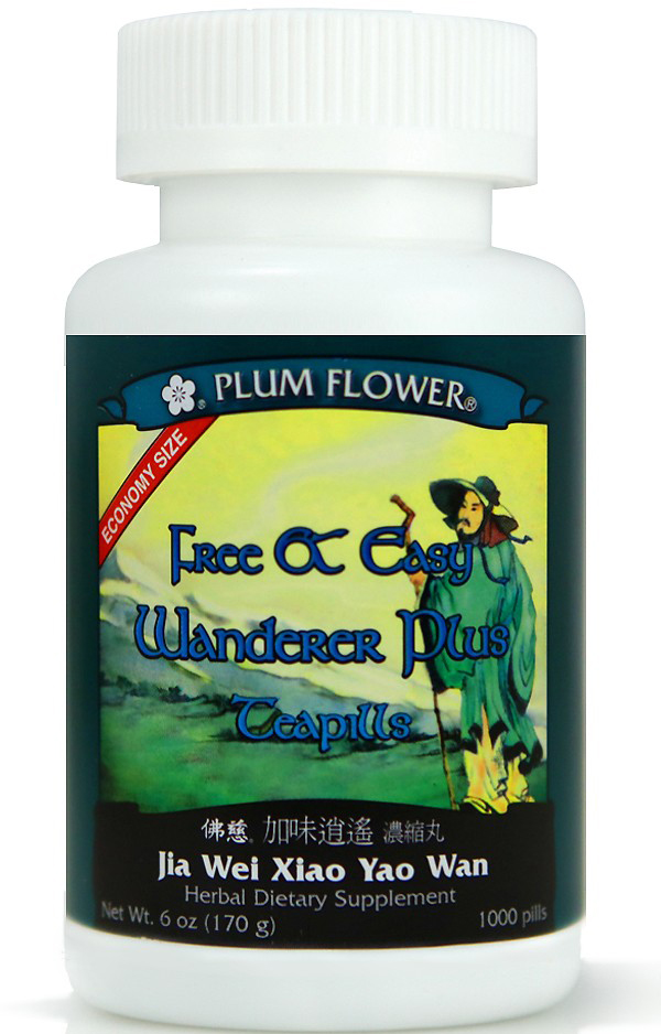 Free & Easy Wanderer Plus Teapills by Plum Flower brand in the Economy Size - Close Up Detail View