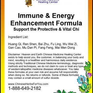 Immune Energy Enhancement Chinese Herbs