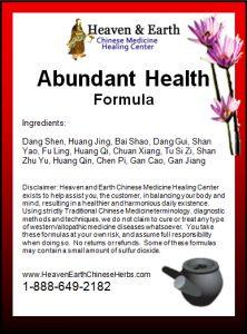 Abundant Health Formula