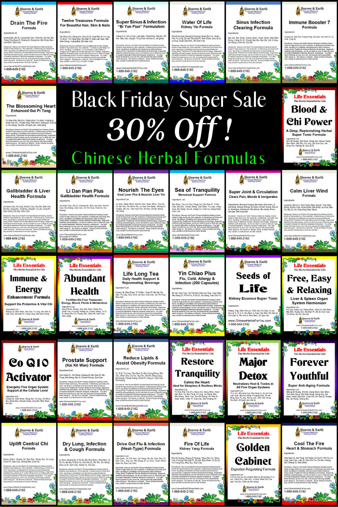 Black Friday 2020 - Formulas Poster 30% Off