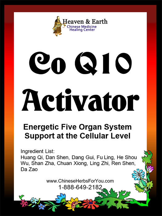 Co Q10 Activator Chinese Herbal Formula