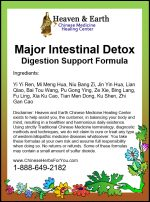 Major Intestinal Detox Formula Label