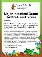 Major Intestinal Detox Formula Label