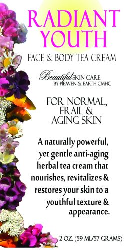 Radiant Youth Face & Body Herbal Tea Cream Detail Image of Cover